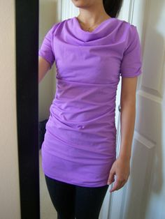 Cowl Neck Ruched Top Tutorial and Free Pattern | Made with Love