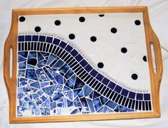 Paris Cafe Mosaic Serving Tray by brendapokorny on Etsy Mosaic Tray, Mosaic Tile Art, Mosaic Pots, Mosaic Artwork, Mosaic Crafts, Easy Mosaic, Mosaic Tables, Mosaic Designs, Mosaic Patterns