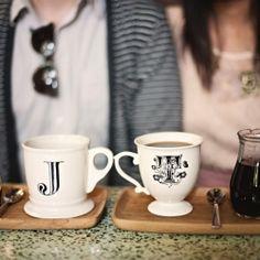 cute photoshoot. love the initial mugs!
