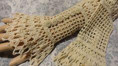 Fine Lace Crochet Steampunk Victorian Edwardian Ivory Cream Cotton Wrist Cuffs. $25.00, via Etsy.