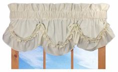 Stephanie Country Ruffle Queen Anne Valance Curtain - 3 Inch Rod Pocket, Natural *** Read more  at the image link. (This is an affiliate link and I receive a commission for the sales)