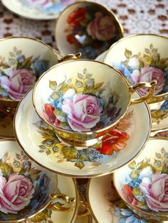 Reserved / Antique Aynsley J.A.Bailey Rose Tea by ShelleyTeaRoom