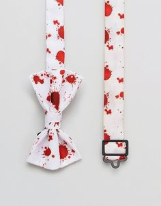 ASOS Halloween Bow Tie With Blood Splatter