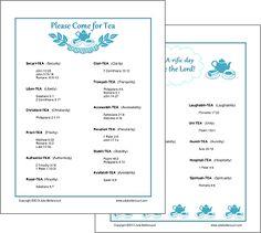 Tea Printable Handout (Creative Ladies Ministry)