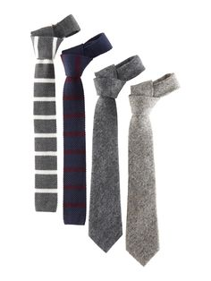 Stripe knit and tweed ties #GapLove Pin your wishlist here: gap.us/PinToWin