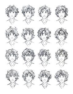 Curly hair reference for guys... Totally need this!!!