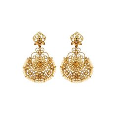 Latest Designer Fashion Earrings Online for Girls http://www.andaazfashion.co.uk/jewellery/earrings/crystal-studded-jhumka-earrings-80745.html