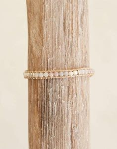Fair Trade Stone + Crystal Gray, Beige & Pink Bracelet
