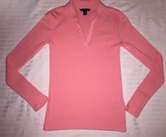 TOMMY HILFIGER Slim Fit TOP Size: XS (EXTRA SMALL) New SHIP FREE Long Sleeve Top #TommyHilfiger #Top #Casual Tommy Hilfiger Store, Long Sleeve Tops, Bell Sleeve Top, Athleisure Wear, Collar Styles, Workout Tops, Work Wear, Winter Outfits, Slim