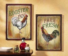 Rooster Print Set