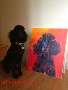 Because every dog deserves a painted portrait.  Sandra Morellato, artist.