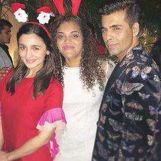 Alia Bhatt and Karan Johar at a Christmas Party @aliaabhatt @karanjohar #aliabhatt #karanjohar #christmas #bollywood #bollywoodstyle #bollywoodactor bollywoodactress