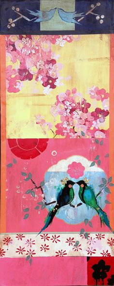 New Paintings at Museo Gallery inspired by Paris, PawPaw's Roses and Chinoiserie