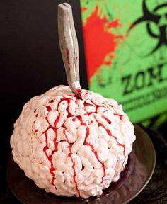 Red Velvet Cake Zombie Brain for Halloween