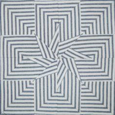 = free pattern = Madison Star quilt block by Barbara Brackman, made with striped ticking by Dustin Cecil. Civil War Quilts: Threads of Memory 5: 2014 BOM.
