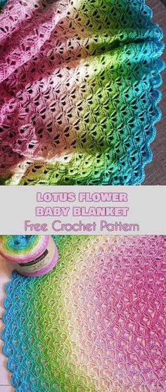 Lotus Flower Baby Blanket Free Crochet Pattern