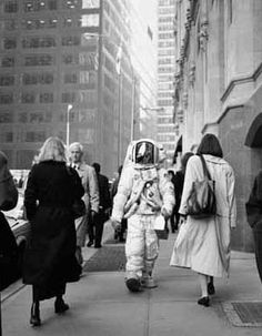 Geof Kern. | astronaut | city | contrast | fun | crazy | busy | high rises | rush hour |