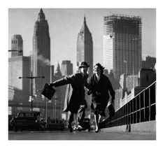 NYC.  Let us flee far from the eyes that watch us... Norman Parkinson, NY 1950