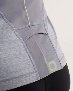 racerback with mesh venting and functional pocket for your music