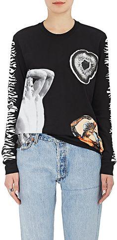 Proenza Schouler Women's Graphic Cotton Long-Sleeve T-Shirt