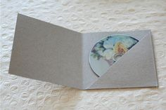 Stitched Chipboard CD Cases - so beautiful! Want!