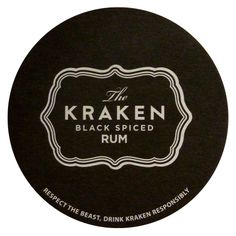 The Kracken Black Spiced Rum Spiced Rum, Spices, Drinks, Black, Spice, Black People, Drink, Beverage, Drinking