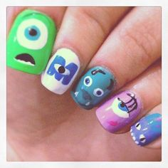 monster inc nail - I know my daughter will want these...