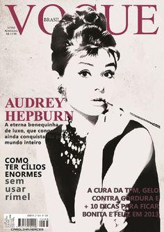 Audrey Hepburn on Vouge Brazil