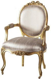 Versailles Mummy Gold Chair by The French Bedroom Company Gold Leaf Furniture, French Furniture, Classic Furniture, Shabby Chic Furniture, Luxury Furniture, Painted Furniture, Furniture Chairs, Handmade Furniture, Antique Furniture
