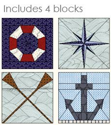 Navy Nautical - Free Nautical Quilt Pattern available for EQ7 EQ6 and Quilt Design Wizard