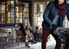 Love, love, love Overland's shoe and boot shoots from their Winter Catalogue Catalog, Winter Jackets, Punk, People, How To Wear, Shoe, Brown, Dresses, Decor