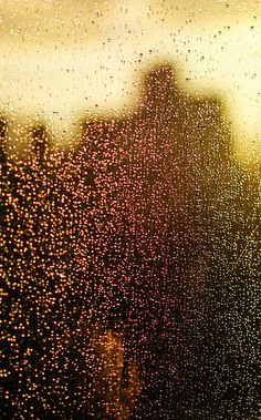 Rain Drops hitting my window, leaving weird colours? by Roberto Vazquez