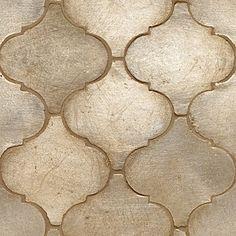 Contessa Tile, Arabesco Silver Leaf Field - contemporary - kitchen tile - Walker Zanger