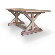 Farmhouse Table Dining Table Wood Table Reclaimed Wood Trestle Table... ($995) ❤ liked on Polyvore featuring home, furniture, tables, dining tables, dining room furniture, home & living, kitchen & dining tables, silver, wood dining table and handmade wood dining table
