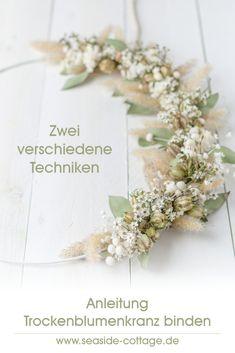 Dried Flower Wreaths, Dried Flowers, Boho Diy, Boho Decor, Art Floral Japonais, Fleurs Diy, Flower Names, Ikebana, Flower Decorations