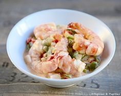 Recette : Crevettes au lait de coco et au citron vert / recipe Shrimps with coconut milk and lime