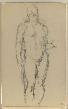Inventaire du département des Arts graphiques - Homme nu, vu de face - CEZANNE Paul