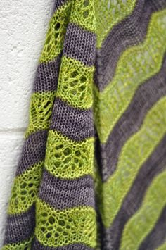 Two-toned version of Shaelyn shawl (pattern by Leila Raabe).