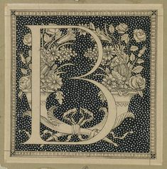 Brooklyn Museum: European Art: Capital Letter B by  James Tissot, French, 1836-1902