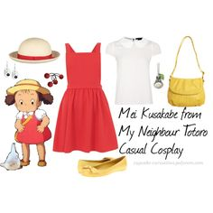 Mei Kusakabe from My Neighbour Totoro Casual Cosplay, created by cupcake-curiosities on Polyvore