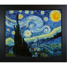 Starry Night by Van Gogh Framed Reproduction