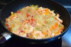 A B C vos IG: Poêlée de crevettes aux poivrons et vermicelles de...