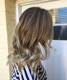 Empress Hair Brisbane - Monique - Balayage Medium Foils Curls Blonde
