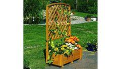 Der Pflanzkasten mit Spalier Twer wird aus der Kiefer und Fichte hergestellt. Der Pflanzkübel ist in der Farbe Honigbraun erhältlich. An dem Rankgitter können Sie ihre lieblings Kletterrose heranwachsen lassen. Der Pflanzkasten ist in verschiedene Variationen mit den Maßen von 70 x 30 x 140 cm bis 210 x 70 x 210 cm verfügbar. Diese und weitere Pflanz- und Blumenkübel mit Rankgitter aus Holz finden Sie unter http://www.meingartenversand.de/pflanzkuebel/pflanzkuebel-holz.html