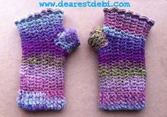 Mosaic Snowdrop Fingerless Gloves *Free Crochet Pattern* by DearestDebi