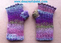 Mosaic Snowdrop Fingerless Gloves *Free Crochet Pattern* by DearestDebi