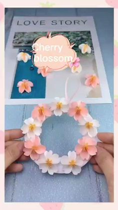 Cool Paper Crafts, Paper Flowers Craft, Paper Crafts Origami, Flower Crafts, Paper Crafting, Handmade Paper Flowers, Paper Flower Garlands, How To Make Paper Flowers, Diy Crafts Hacks