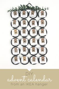 DIY advent calendar made from an IKEA hanging organiser. Also includes a free downloadable PDF of daily advent activities for the family
