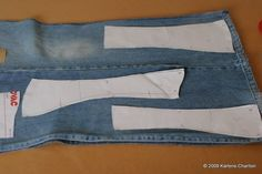 How to make a corset. Recycled Denim Corset - Step 3