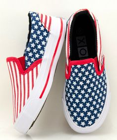 Take a look at this Red & Blue Yankee Slip-On Sneaker - Kids by XOLO Shoes on #zulily today!